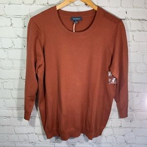 NWT ModCloth Burnt Orange Sweater Size XL